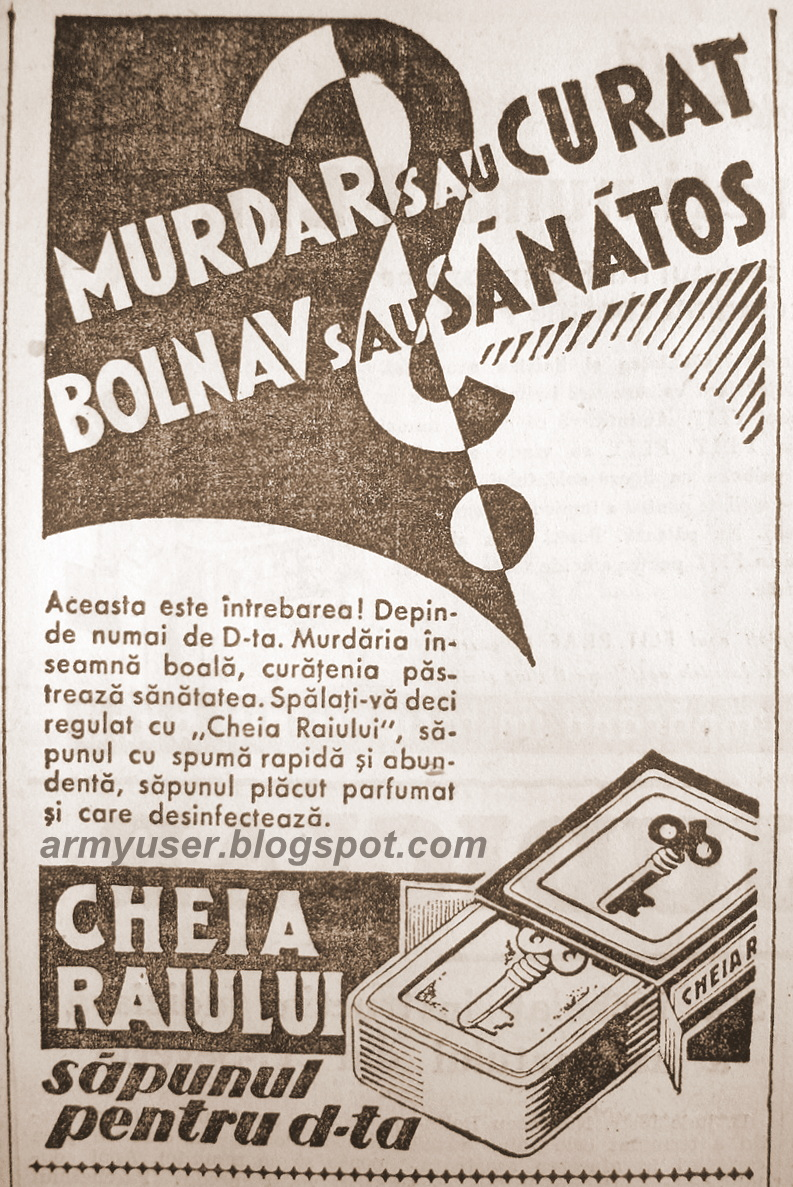 sapun lichid multirol reclama din Ziarul Universul,anii 30