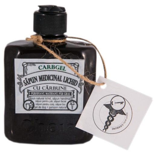 sapun medicinal lichid cu carbune